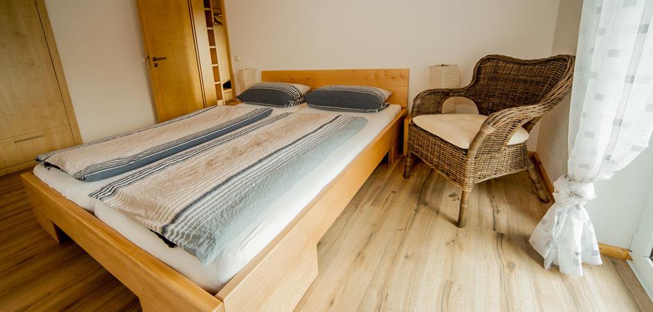Sonnhof-Ferienwohnung-Elternschlafzimmer