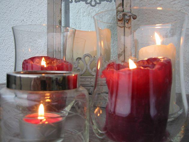 Laternen und Kerzen beim Bodenseebauer